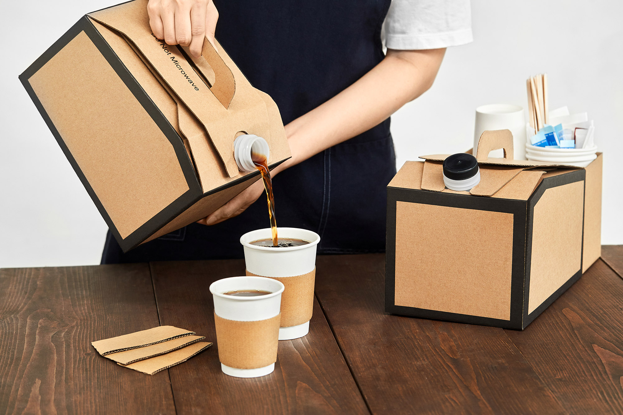 Hot Drink Sleeve & Beverage On The Move